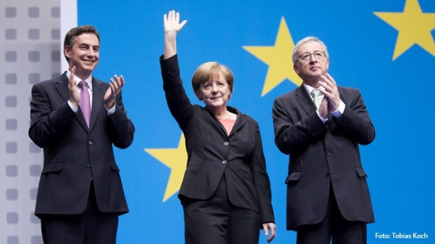 McAllister, Merkel y Juncker