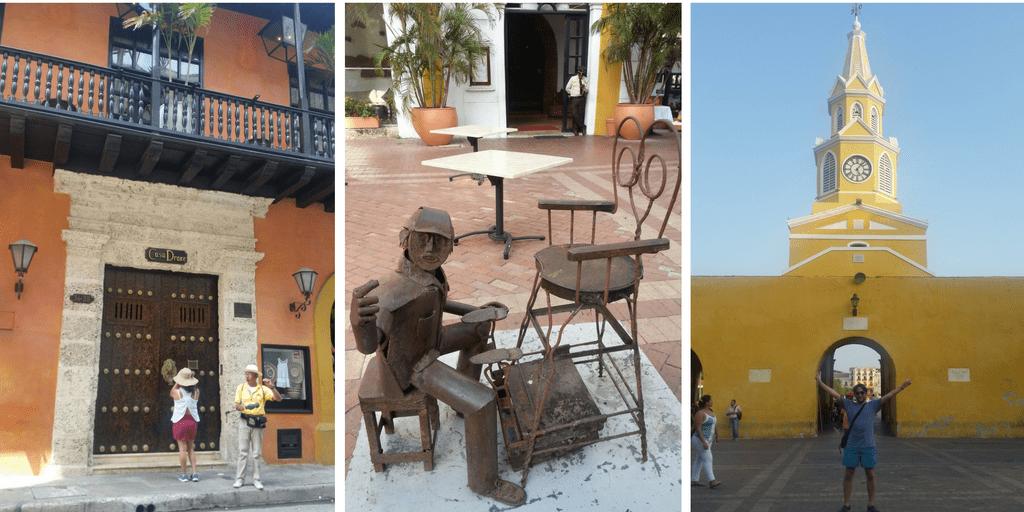 Casa de Francis Drake con el guía Jairo - Esculturas de fierro oficios - Torre del Reloj