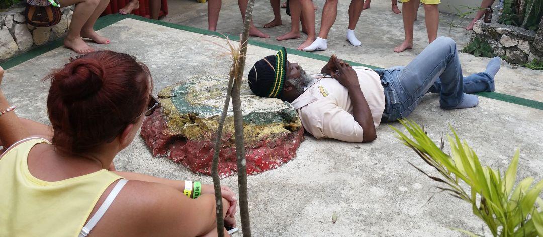 La almohada de Bob en Nine Mile, Jamaica