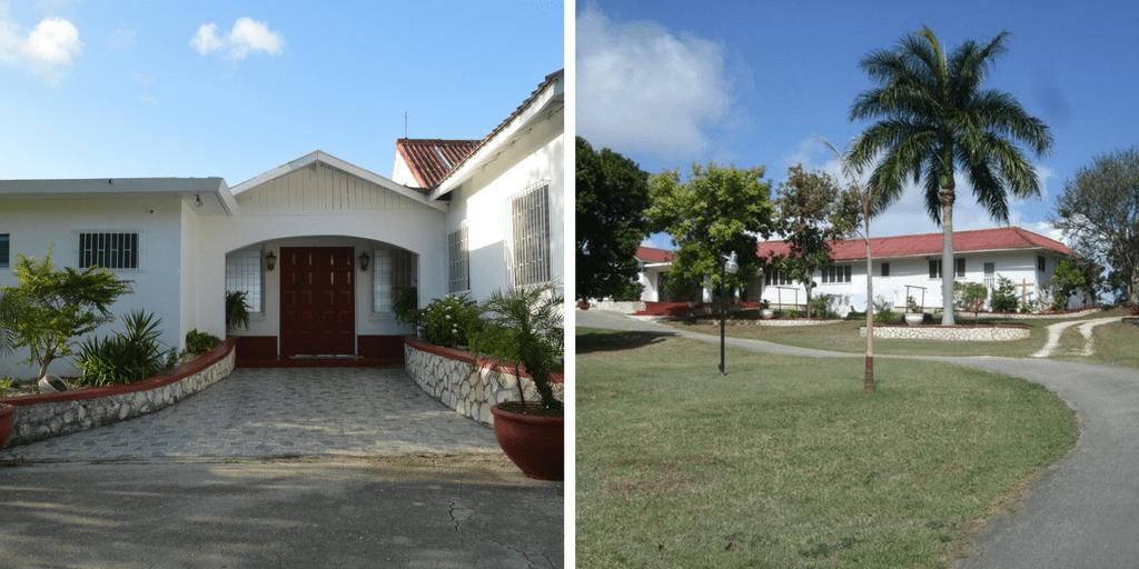 La casa donde funciona JRM, cerca de Montego Bay