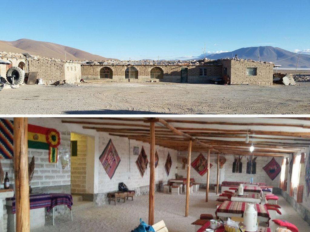 Refugio básico y hostal de sal