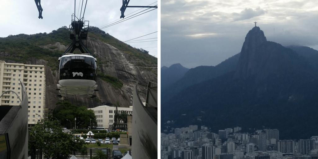 Teleférico desde Praia Vermelha al Morro de Urca - vista desde el Pan de Azúcar del Cristo Redentor