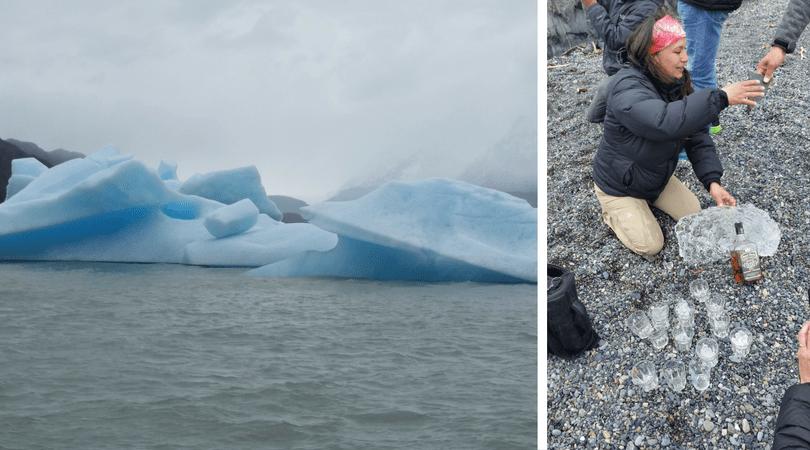 Glaciar Grey y el Whisky con hielos milenarios