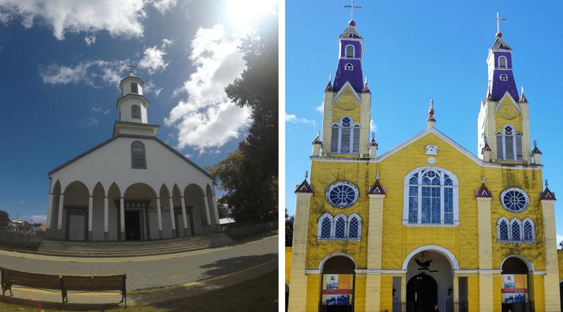 Iglesia patrimonial de Dalcahue y de San Francisco en Castro