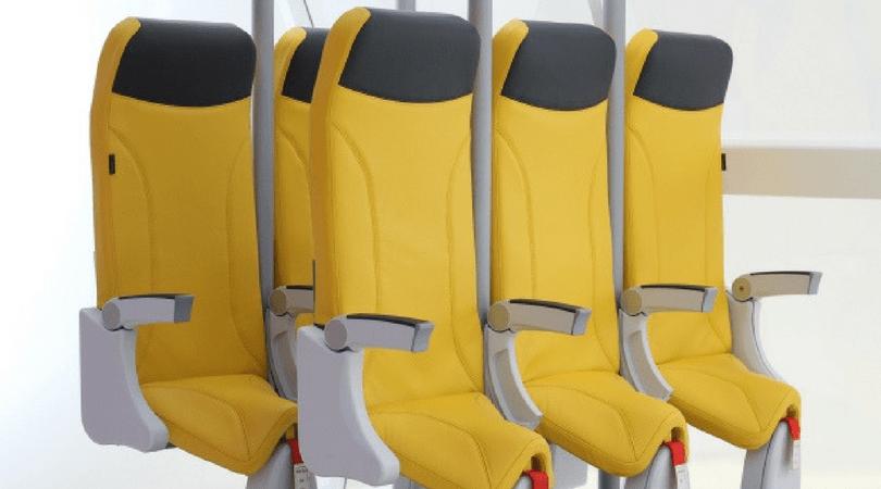 Los asientos presentados por Aviointeriors para ahorrar más espacio y sumar más asientos