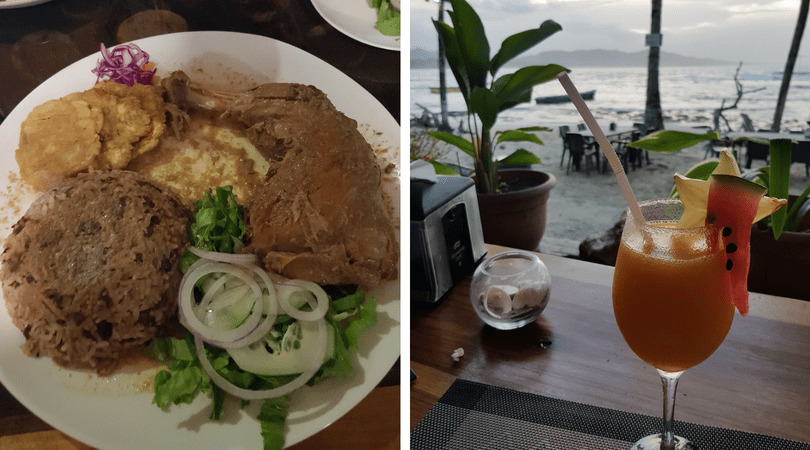El exquisito rice and beans y los cocteles de tarde en la playa