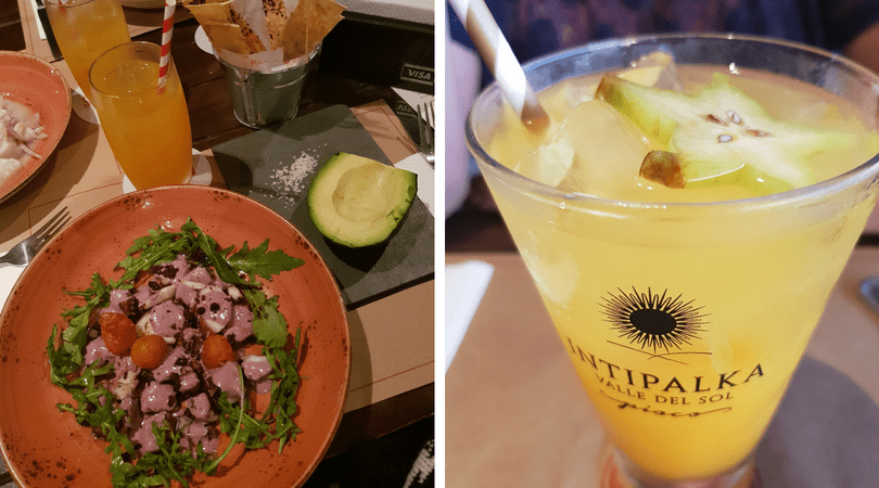 Cenando en Mangos, Larcomar