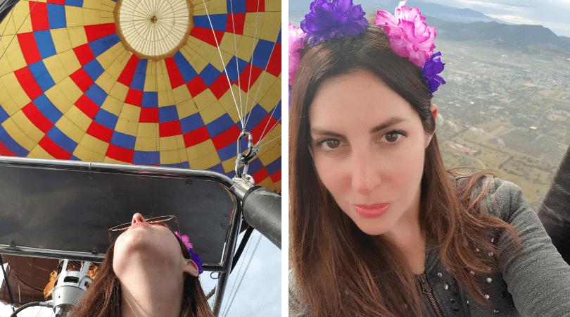 Disfruté la experiencia a concho, hasta para selfies con las pirámides tuve ánimo