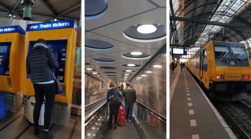 Estas son las máquinas donde comprarás tu ticket, luego bajas y miras en las pantallas tu tren
