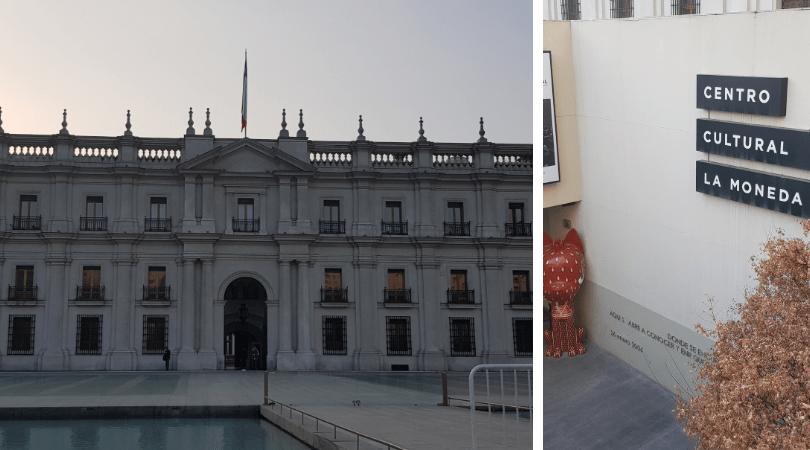 La Moneda y su centro cultural que suele tener interesantes exposiciones