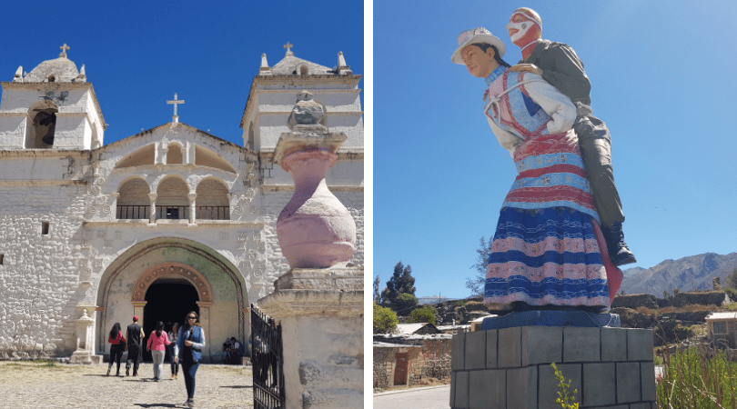 Maca, su iglesia y sus peculiares estatuas