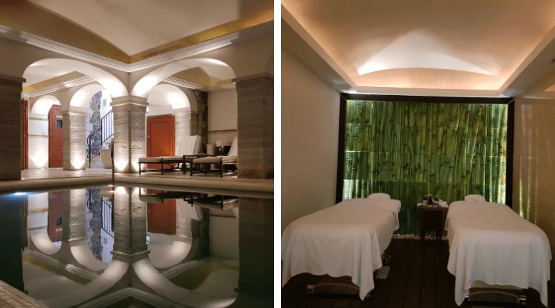 Las aguas del spa estaban a una temperatura perfecta y la sala de masajes era un lujo, con cvamillas ajustables en altura, productos de L Occitane y terapeutas de primer nivel