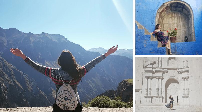 A Arequipa fui sólo con bolso de mano y necesite ropa para ir de excursión y para salir en la ciudad, el espacio no me limitó a ponerme todos los días lo mismo