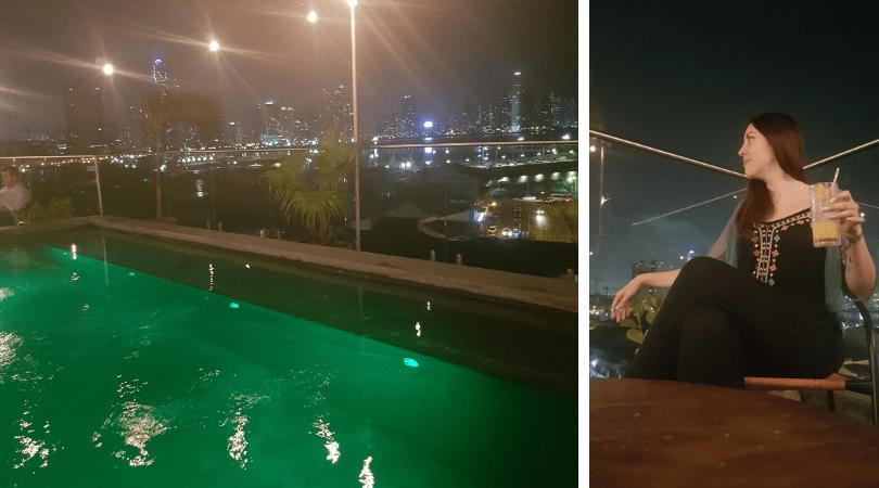 El rooftop está increíble para tomar algo disfrutando las vistas de la ciudad