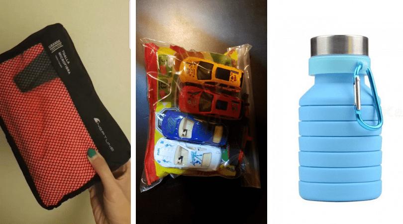 Toalla compacta de microfibra / bolsa de caramelos y juguetes pequeños / botella compactable