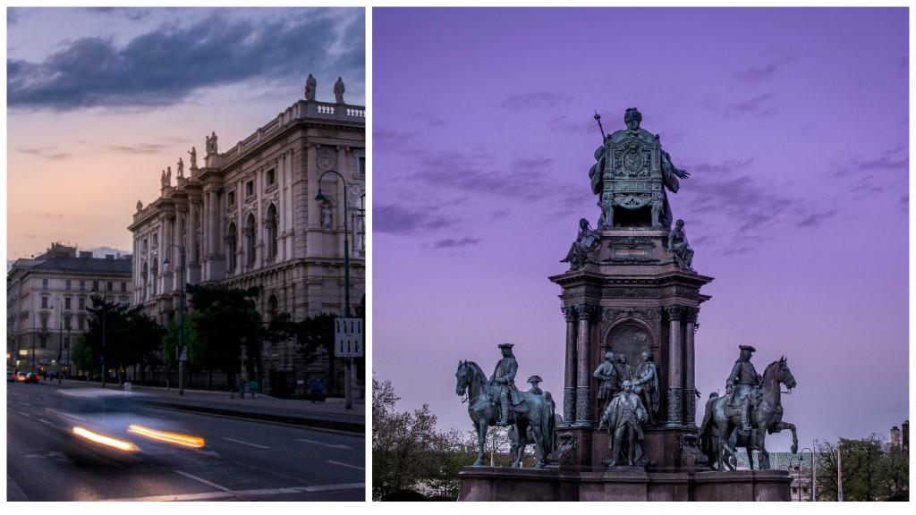 Atardecer en las calles de Viena. Fotos: Marko Stojkovic.