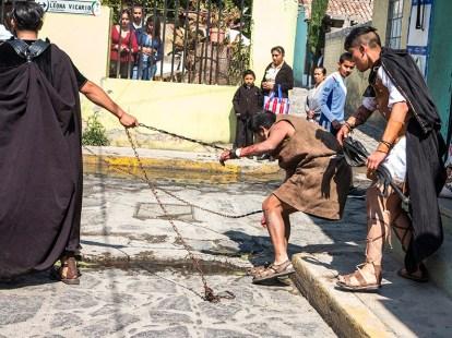 Representaciòn en Ocoyoacac de la Semana Santa