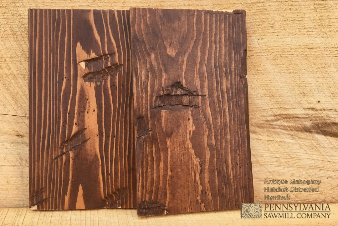 Hemlock - Hatchet Distressed w/ Antique Mahogany