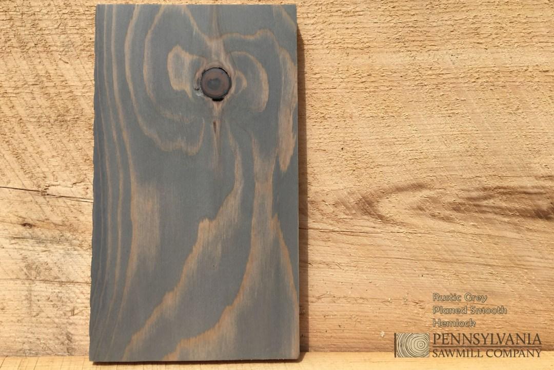 Hemlock - Planed w/ Rustic Grey