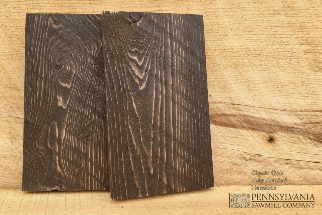 Hemlock - Skip Sanded w/ Classic Oak