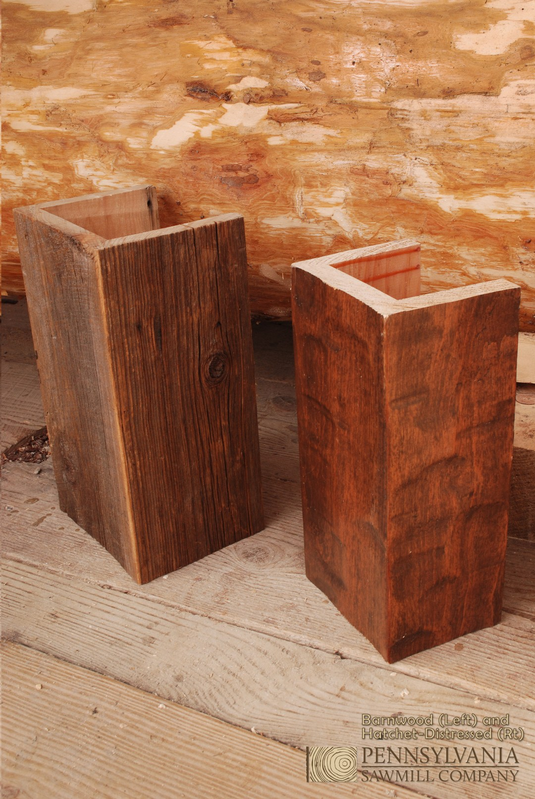Reclaimed and Hatchet Distressed Box Beams