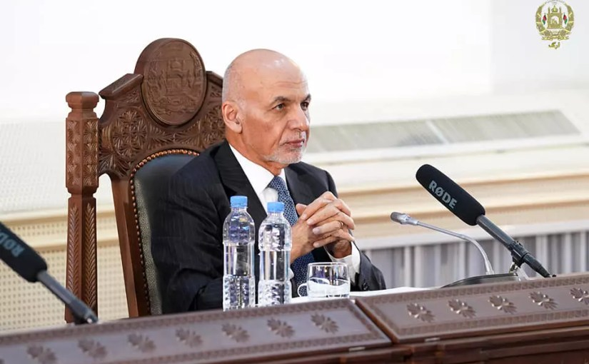 President Ghani in a speech at the Geneva Conference