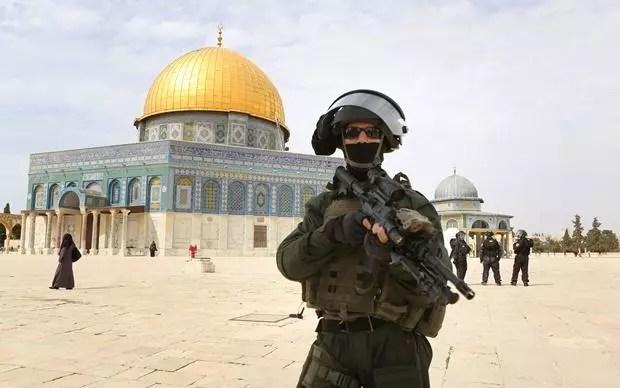 The body of an Israeli soldier in Jerusalem