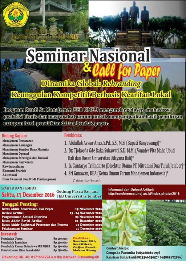 Seminar Nasional dan Call for Papper