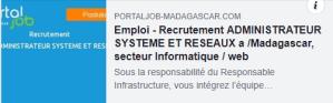 NETAPSYS Madagascar recrute un Administrateur Système et Réseaux