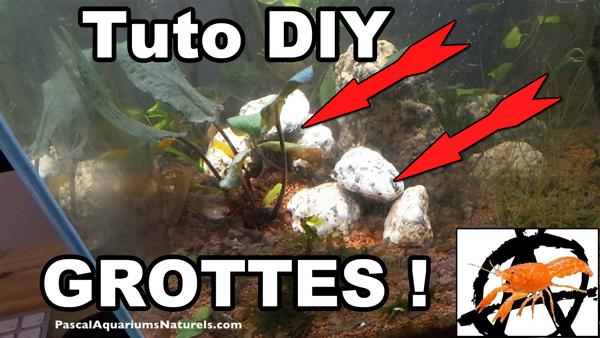 tuto grottes en aquariums pour poissons de fond, écrevisses, crevettes !