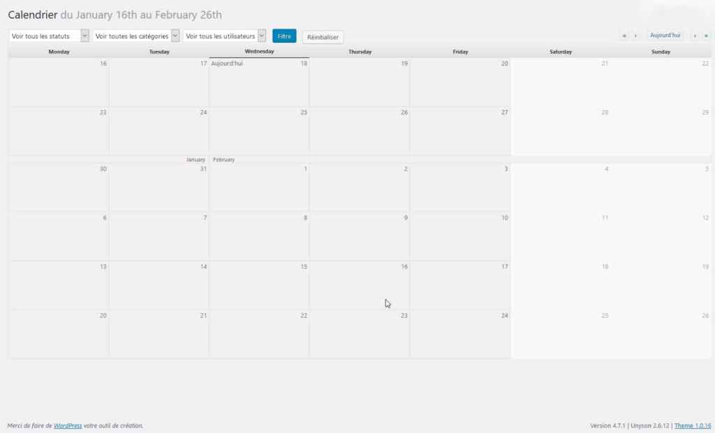 Calendrier - Edit Flow