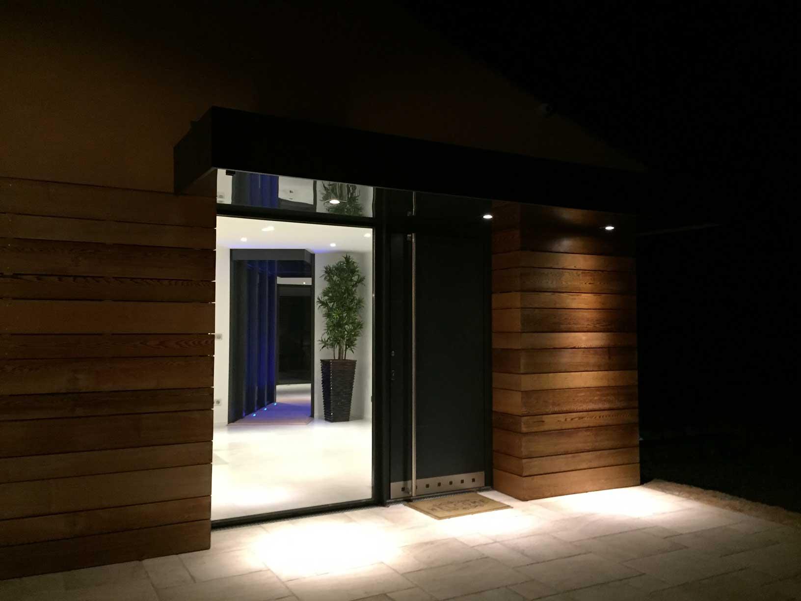 extension villa eclairage exterieur