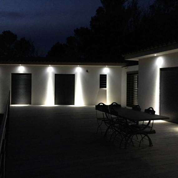villa rougiers eclairage nuit