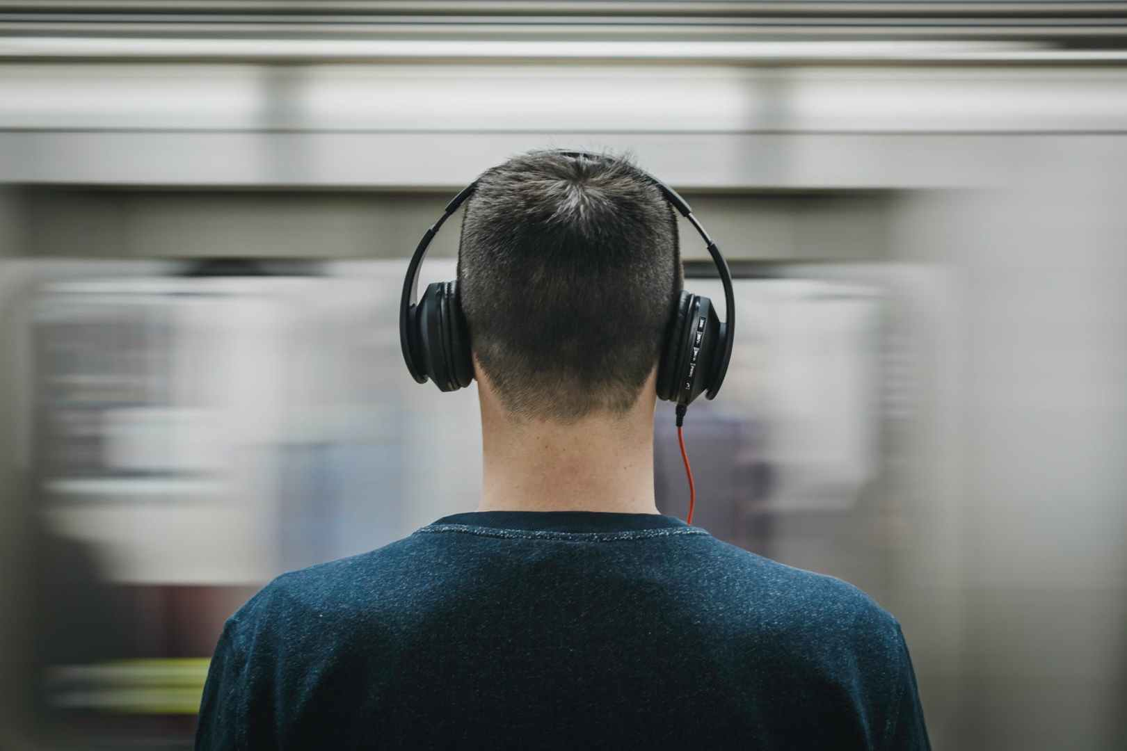 headphones man music person