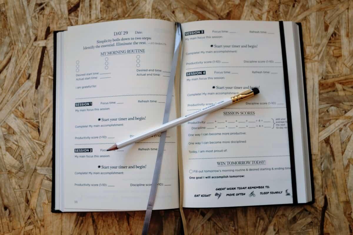 Mastery Journal essai test concentration productivité