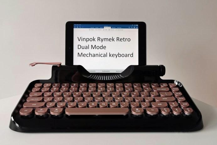 Vinpok Rymek Retro Dual Mode Mechanical Keyboard clavier sans fil bluetooth