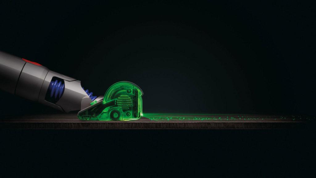 dyson v15 detect laser aspirateur
