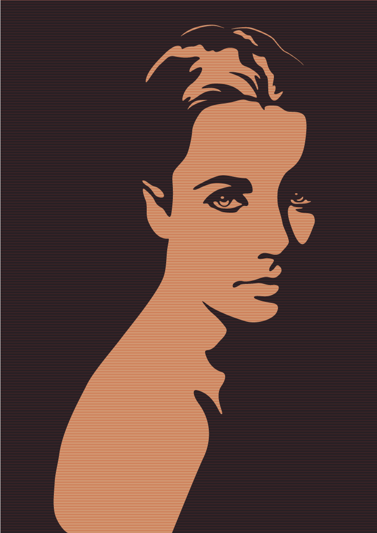 Vintage Portrait vector illustration