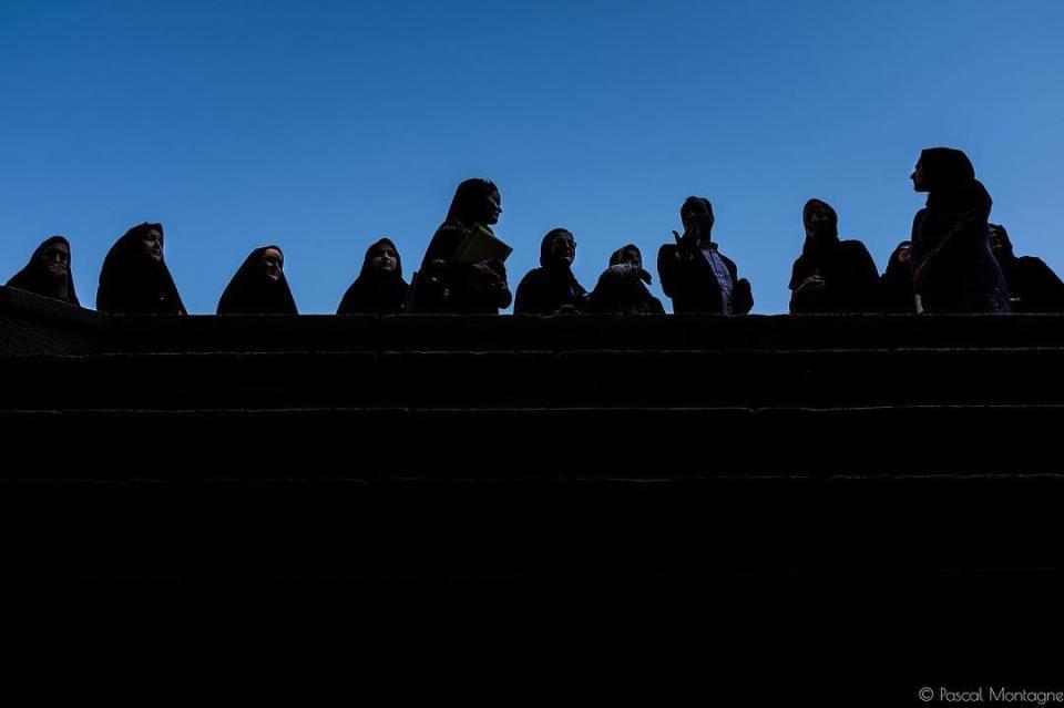 Iran veils #iran #irantravel #backlight #veil #islamic #womens #sky #students #architecture #instagood #instalife #hijab