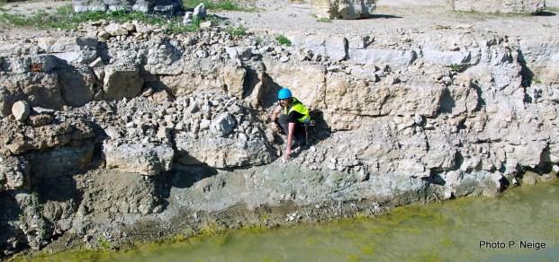 Unconformity between cristaline rocks and Toarcian deposits