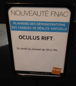 oculus donne des RDV à la fnac qui ne sont pas honorés