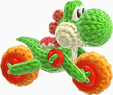 Poochy And Yoshis Woolly World : YoshiBike