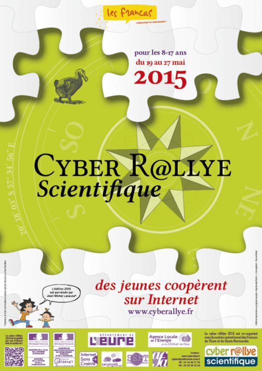 Infographiste Rouen Pascal Ridel affiche cyber rallye 2015