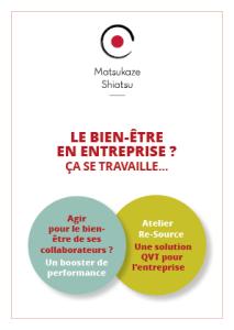 Infographiste Rouen Pascal Ridel - Couverture brochure shiatsu