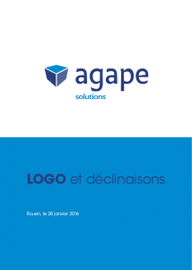 Infographiste Rouen Pascal Ridel Logo Charte graphique Agape solutions