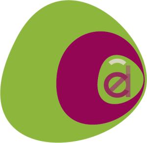 Infographiste Rouen Pascal Ridel Création logo Adel aplat rose la Fapil