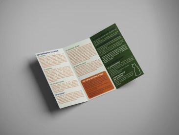 Infographiste Rouen Pascal Ridel Depliant 3 volets Brochure
