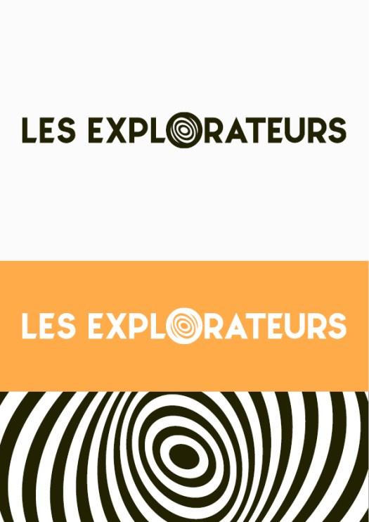 Infographiste Rouen Pascal Ridel - recherche d'identité visuelle - Logo porte les explorateurs - Rouen