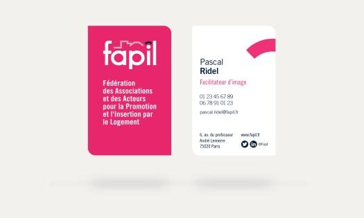 refonte logo -  pascal ridel - infographiste - rouen - carte de visite