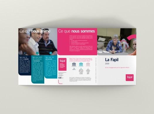 Infographiste Rouen Pascal Ridel - plaquette institutionnelle recto